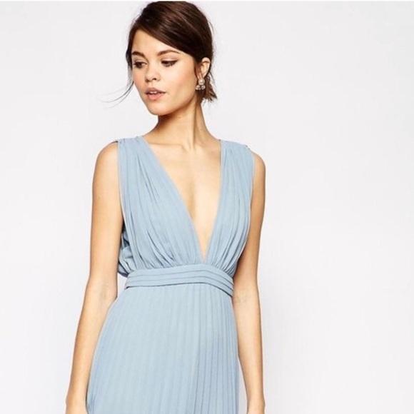 bfb6c98238e ASOS Dresses   Skirts - ASOS Baby Blue Dress Wedding Guest